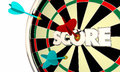 Score Dart Board High Top Player Word Royalty Free Stock Photo