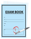 Score f on the exam negative assessment cover book vector illustration Stock Photos