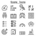 Score icon set in thin line style Royalty Free Stock Photo