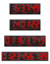 Scoreboard digital countdown timer illustration isolated on white background Stock Photography