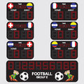Scoreboard football tournament vector illustration Stock Images