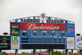 The Scoreboard at Hammond Stadium Royalty Free Stock Photo