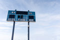 Scoreboard at Local Football Field With Copy Space Royalty Free Stock Photo