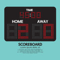 Scoreboard sport digital vector illustration Royalty Free Stock Image