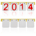Scoreboard year d render Stock Photography