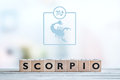 Scorpio star sign on a table Royalty Free Stock Photo