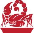 Scorpio Zodiac/Horoscope Symbol Royalty Free Stock Photo