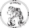 Vector illustration of sign zodiac Scorpio