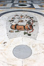 Scorpion mosaic of the zodiac in the floor of galleria umberto i a public shopping gallery in the italian city of naples built Stock Image