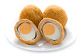 Scotch eggs isolated Stock Images