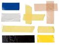 Scotch strips on white Royalty Free Stock Images