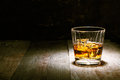 Scotch on wood Stock Photography