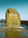 Scotish English border Royalty Free Stock Photo