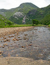 Scotland ben nevis falls in glen Stock Photo