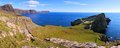 Scotland coast panorama panoramic view of the of at neist point Royalty Free Stock Image
