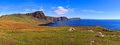 Scotland coast panorama panoramic view of the scenic coastline in the highlands of Stock Photo