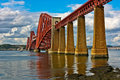 Scotland Firth of Forth Bridge Stock Photo