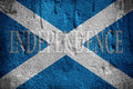 Scotland independence flag overlaid with grunge texture Royalty Free Stock Photography