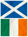 Scotland and Ireland flag Royalty Free Stock Photos