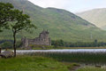Scotland kilchurn castle loch awe with Stock Photos