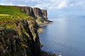 Scotland kilt rock cliff sky island Royalty Free Stock Images