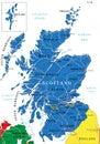 Scotland map Royalty Free Stock Photo