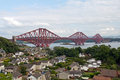 Scotland north queensferry forth railway bridge in Royalty Free Stock Images
