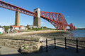 Scotland north queensferry forth railway bridge in Royalty Free Stock Photos