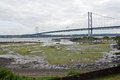 Scotland north queensferry forth road bridge in Stock Photos