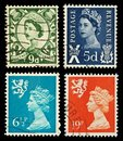 Scotland Postage Stamps Royalty Free Stock Image