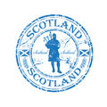 Scotland rubber stamp Stock Photography