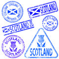 Scotland Rubber Stamps Royalty Free Stock Images