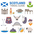 Scotland Travel Icons Set Royalty Free Stock Photo