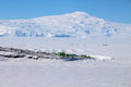 Scott base antarctica aerial view of this is the main new zealand in and is located on ross island Royalty Free Stock Photo