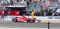 Scott dixon leaving the pit at indy Stock Photography