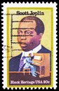 Scott Joplin 1868-1917, Ragtime Composer, Black Heritage serie, circa 1983 Royalty Free Stock Photo