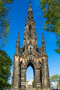 Scott monument in edinburgh on a beautiful sunny day Stock Photography