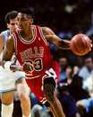 Scottie pippen chicago bulls former superstar image taken from color slide Stock Photography