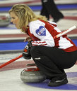 Scotties curling jennifer jones shouts Royalty Free Stock Photos