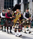 Scottish Bagpipe Band Stock Photography