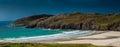 Scottish beach in winter a small the far north of scotland light Stock Photo