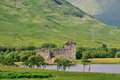 A scottish castle at a loch in argyleshire on the shores of awe Royalty Free Stock Photography