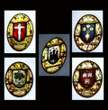 Scottish city coat of arms for leading cities rendered in stained glass Stock Photography