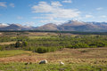 Scottish countryside and snow topped mountains Ben Nevis Scotland UK in the Grampians Lochaber Highlands Royalty Free Stock Photo