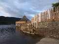 Scottish crannog centre the is an award winning and interactive which shows what iron age life was like with a Stock Images