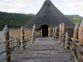 Scottish crannog centre loch tay perthshire is an award winning and interactive which shows what iron age life was like with a Stock Photo