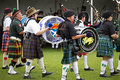 Scottish drummers playing in band at the rio grande valley celtic festival in albuquerque new mexico Stock Image