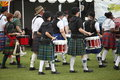 Scottish drummers playing in band at the rio grande valley celtic festival in albuquerque new mexico Stock Photos