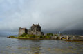 Scottish Flag Flying By Eilean Donan Castle Royalty Free Stock Photo