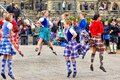 Scottish Highland Dancers perform at the National Tartan Day in Ottawa Royalty Free Stock Photo